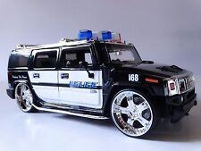 JADA Heat 2003 Hummer H2 Police Cruiser 4x4 Suv 1:24 Scale Diecast Metal Model