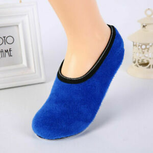 Womens Ladies Slipper Non-Slip Anti-skid Socks Warm Soft Fleece Gripper Slipper