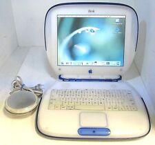 "Apple iBook G3 Clamshell Laptop M6411 Blue - 12.1"" - 10GB HD - Mac OS X 10.3.9"