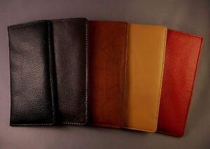 Top Grain soft Leather Eyeglass / Glasses slip case - Various colors