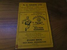 More details for headington united  v  bolton wanderers  1953/4  f.a.cup 4th round ~ january 30th