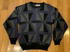 Vintage Jantzen Sweater Pullover Geometric Biggie Cosby USA Made Medium