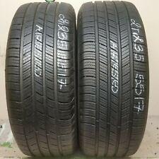 2 Tires 235 55 17 Michelin Defender T+H 99H (85-95% Tread)