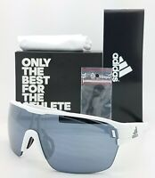 NEW ADIDAS Zonyk Aero L Sunglasses AD06/75 1600 00/0L White Matte Chrome Mirror