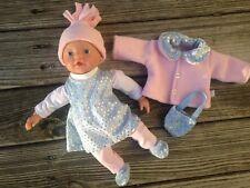 KLEIDUNG + Jacke  für Puppen Gr. 32 little Baby Born Glitzer Aquini Muffin NEU