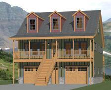 30x32 House -- 2 bedroom 1.5 Bath -- 1,489 sqft -- PDF Floor Plan -- Model 3