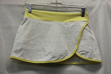Lululemon Womens Yellow White Skort Skirt Size 4 Excellent Used Condition