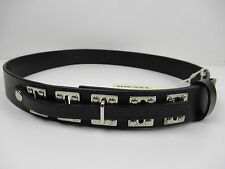 "Authentic Diesel ""Cinture Pelle F"" Leather Belt, Waist Up To 34"" 85cm"
