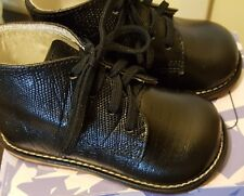 Josmo Baby Unisex Lizard Print Lace up First Walker Shoe, Blk, Size 5 US Infant