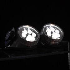 PAWSTAR LED Goggles - Light Up White Paw Print Cyberpunk cybergoth [WH/PAW]5416