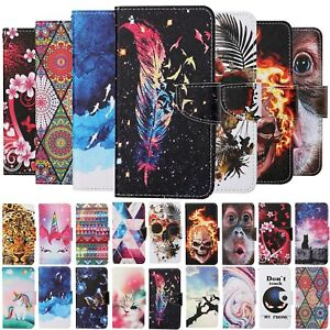 For Samsung Galaxy S10 S20 S21 Plus Case Painted Flip Stand Leather Wallet Cover