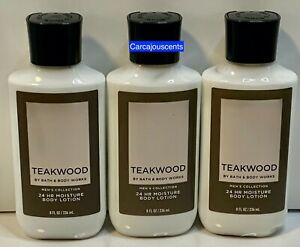 set of 3 Bath & Body Works Teakwood for Men Body Lotion 8 fl oz each