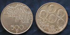 MONETA COIN BELGIO BELGIE BELGIQUE 1830 --->1980 FRANCS 500 - DUTCH LEGEND -