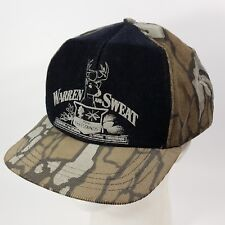 Vintage 80s Warren And Sweat Tree Stands Hat USA Made Old School Tree Bark Camo