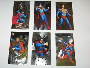 1994 SUPERMAN MAN OF STEEL PLATINUM COLLECTORS SPECTRA ETCH FOIL 6 CARD SET!