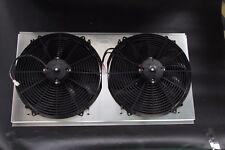 "ALUMINUM RADIATOR SHROUD W/ 2 x 16"" FANS 94-02 Dodge Ram 3500 5.9L DIESEL ENGINE"