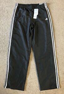 NWT Adidas Women's Black 3S Wind Pant Athletic Training Pants - Size Medium