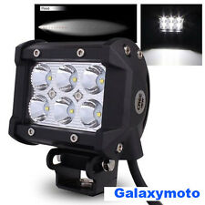 "4"" Cree White 6 LED 18w Flood Beam Adjustable Off Road Roof/Cab/Work Light bar"