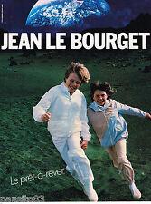 PUBLICITE ADVERTISING 055 1981  JEAN LE BOURGET  vetements enfants