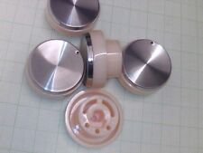 "RADIO KNOBS SET OF 5 1/4"" SPINDLE PUSH ON 34MM DIA"