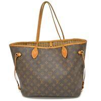 Authentic Louis Vuitton Monogram Neverfull MM Shoulder Tote Satchel Hand Bag LV