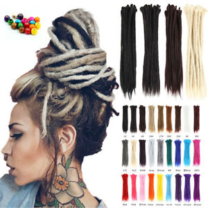 "20""/50cm Natural Handmade Dreadlocks Synthetic Braiding Dreads Hair Extensions"
