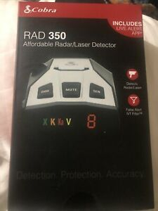 SUPER FAST SHIP!!! Cobra - RAD 350 Radar and Laser Detector - NEW!