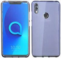 Silikon Handyschale Schutzhülle Bumper Tasche in Grau für Alcatel 5V (5060D)