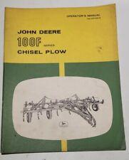 John Deere Operators Manual 100 F Series Chisel Plow