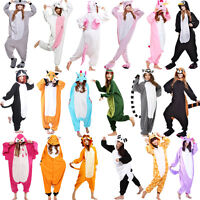 Hot Unisex Adult Pajamas Kigurumi Cosplay Costume Animal Sleepwear Suit Hallowee