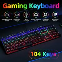 VicTsing 104 Key RGB Backlit Cherry MX Blue Switches Gaming Mechanical Keyboards