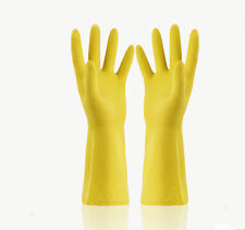 Women's Rubber Glove Household Kitchen Gloves Long Dish Washing Cleaning L