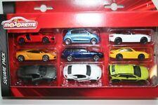 Majorette 212053241-Square Pack - 9 vehículos/9 Cars-set 2-nuevo