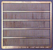 Code 70/83 Joint Bars 6 Bolt Pattern Etched Metal Ho-Scale Kv Models Kv-2012H