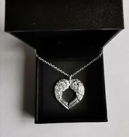 Necklace Angel Wings Plated Pendant Chain Heart Silver 925 Jewellery Gifts