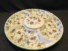 Divided Serving Plater Ceramic Andrea by Sadek Center Bowl With Cover Floral