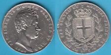 1) - 5 LIRE 1844 ZECCA DI GENOVA - CARLO ALBERTO (1831-1849) REGNO DI SARDEGNA
