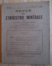 REVUE DE L'INDUSTRIE MINÉRALE N°163 (1927) MINE / AIR COMPRIMÉ /GRÈVES ANGLAISES