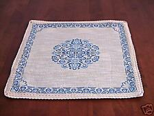NEW French Chic linen Woven Pillow/Cushion - Blue