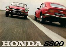 Honda S800 1967-69 UK Market Foldout Sales Brochure Coupe Convertible