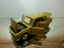 TOGI 8/72 ALFA ROMEO 2000 BERLINA  4-drs OPEN - MUSTARD 1:23 RARE - VERY GOOD