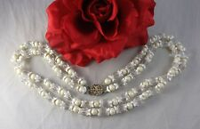 Vintage Miriam Haskell Faux Pearl & Glass  2 Strand   Necklace  CAT RESCUE
