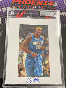 CARMELO ANTHONY Signed 8x10 Autograph Photo BECKETT Slabbed Authentic Auto