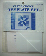 "Clay's Choice plastic templates set for quilt quilting 9"" 12"" blocks"