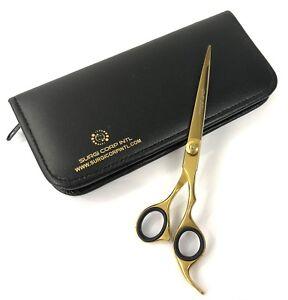 "7"" Professional Hairdressing Barber Scissors Salon Haircutting Shears GOLD Sharp"