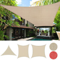 Sun UV Shade Sail Rectangle/Triangle Outdoor Patio Pool Top Canopy Cover Shelter