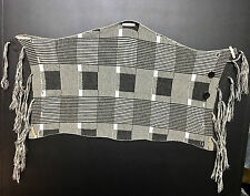 B.Son 100% Wool Men Women Fashion Designer Square Check Plaid Gray Scarf Scarves
