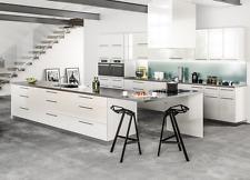 "11"" x 14"" Contemporary Milano White Gloss Kitchen Cabinets Door Sample, Slab"
