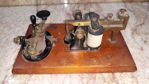 Antique JH Bunnell Telegraph Key & Sounder