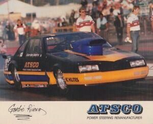 1989 Gordie-Rivera ATSCO Chevy Beretta Pro Stock NHRA postcard